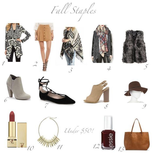 fall staples